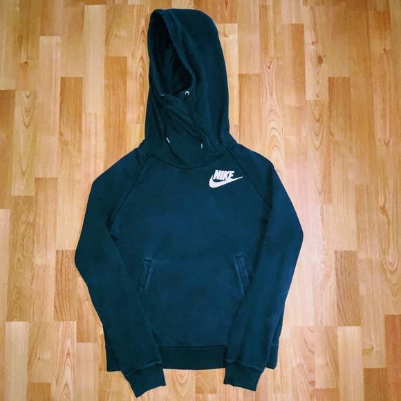 Nike Womens Hoodie Navy Blue Size Large L Drawstring Kangaroo Pocket